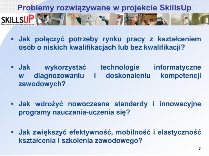 Problemy rozwiązywane w projekcie SkillsUp
