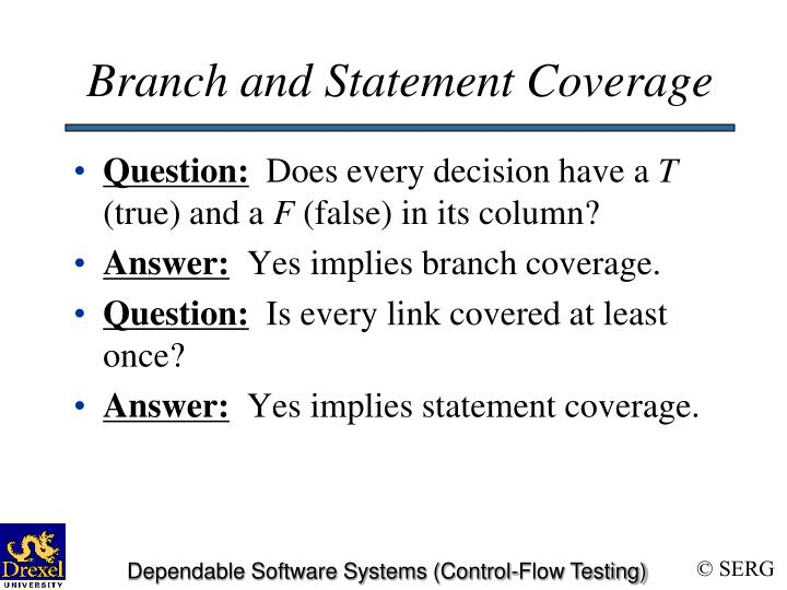 Branch and Statement Coverage