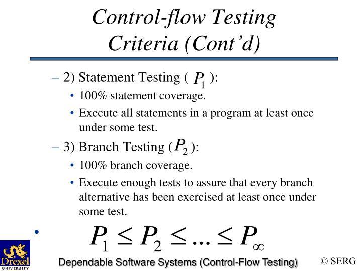 Control-flow Testing