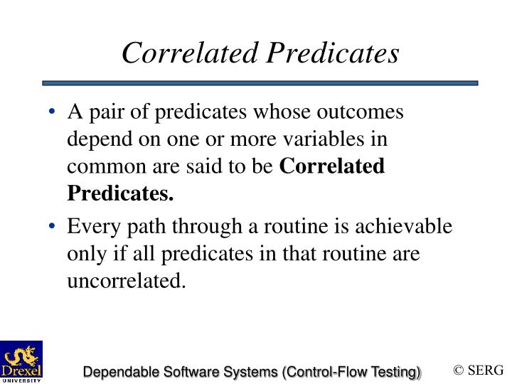 Correlated Predicates