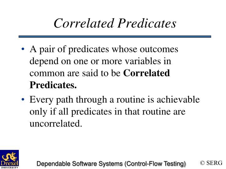 Correlated Predicates