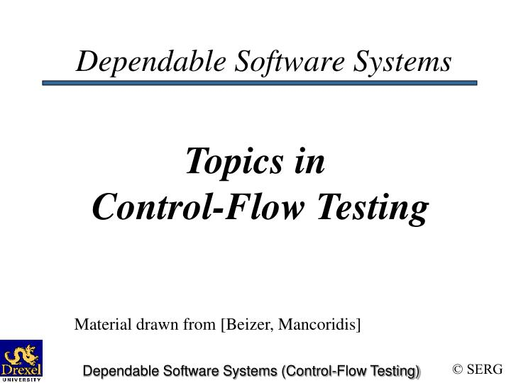 dependable software systems