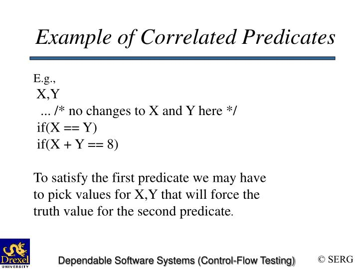 Example of Correlated Predicates