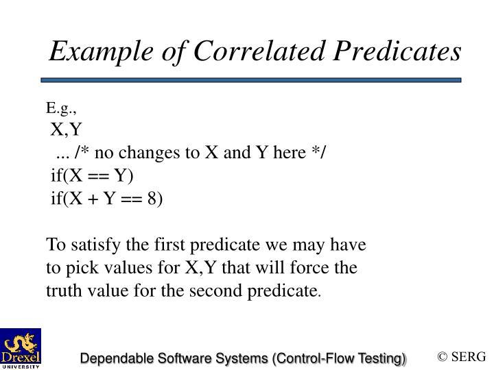 Example of Correlated Predicates