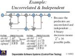 example uncorrelated independent