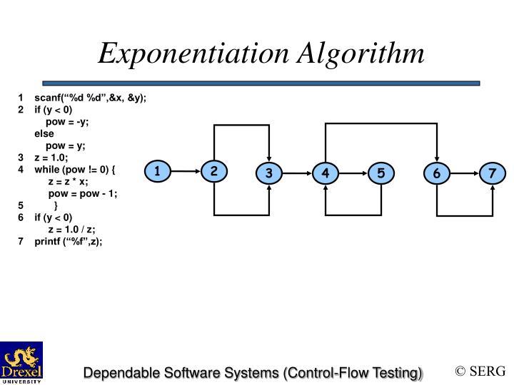 Exponentiation Algorithm