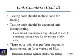 link counters cont d