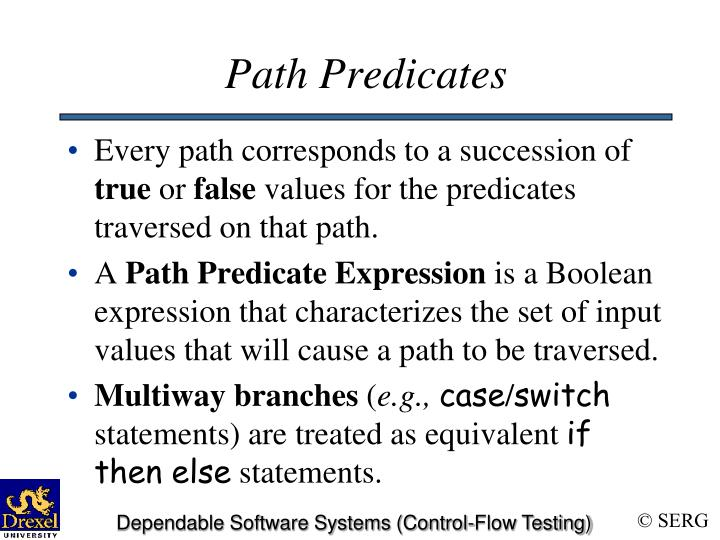 Path Predicates