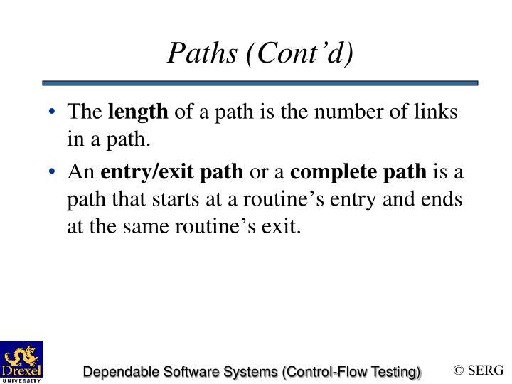 Paths (Cont'd)