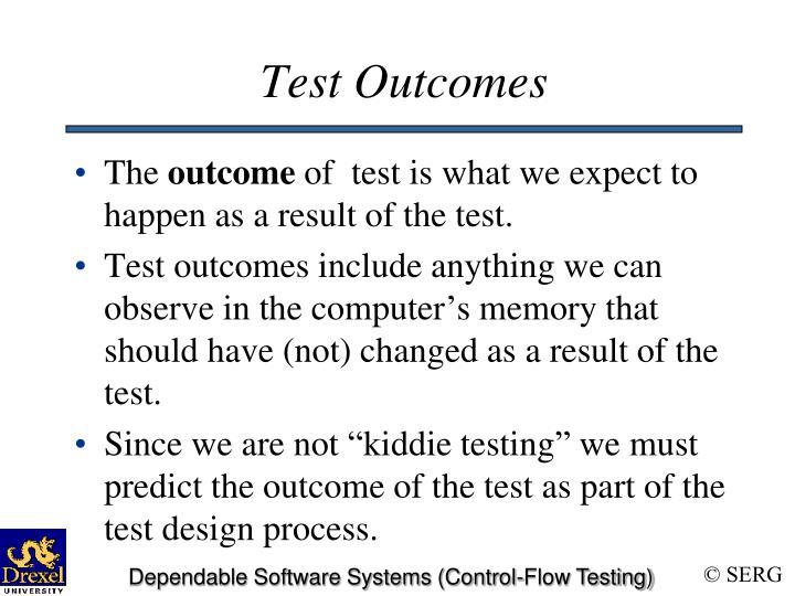 Test Outcomes