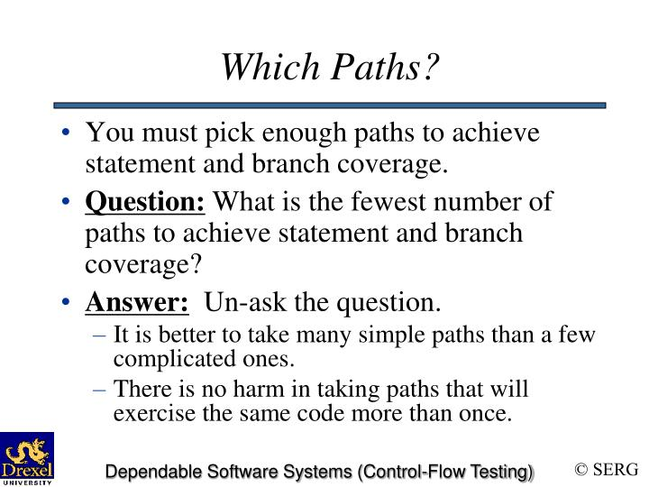 Which Paths?