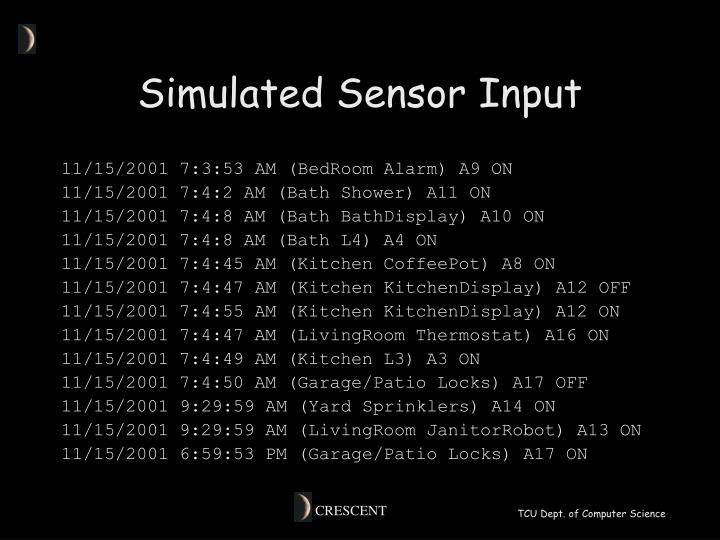 Simulated Sensor Input