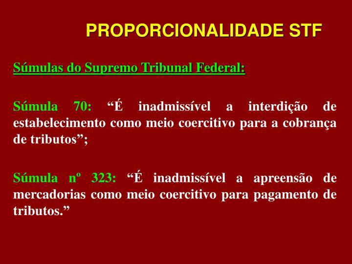 PROPORCIONALIDADE STF