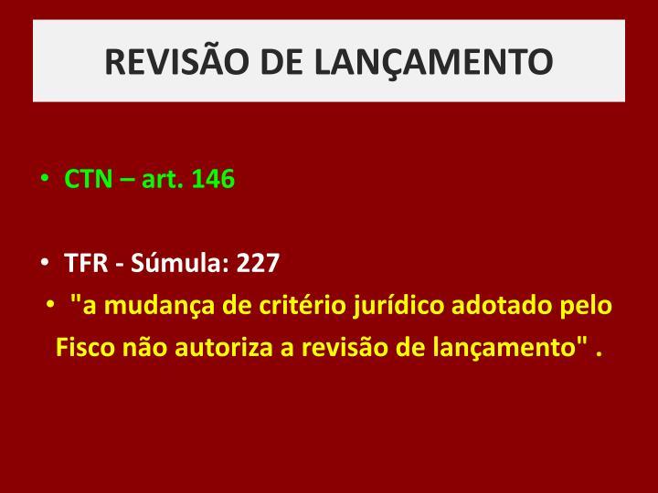 REVISÃO DE LANÇAMENTO