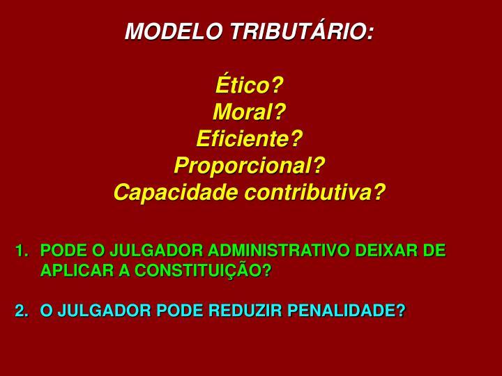 MODELO TRIBUTÁRIO: