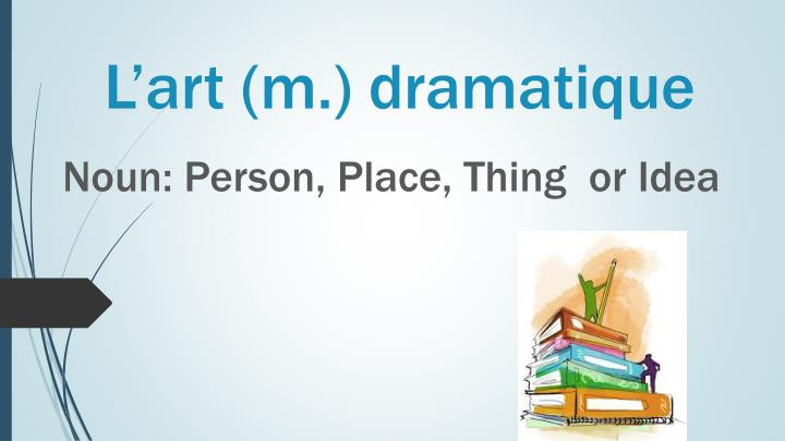 L'art (m.) dramatique