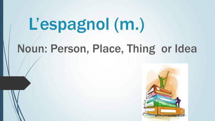 L'espagnol (m.)