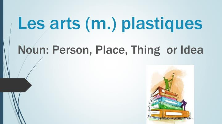 Les arts (m.) plastiques