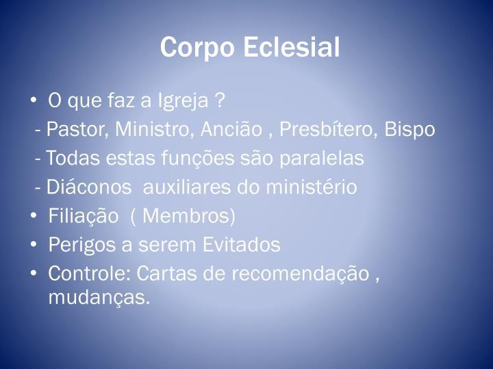 Corpo Eclesial