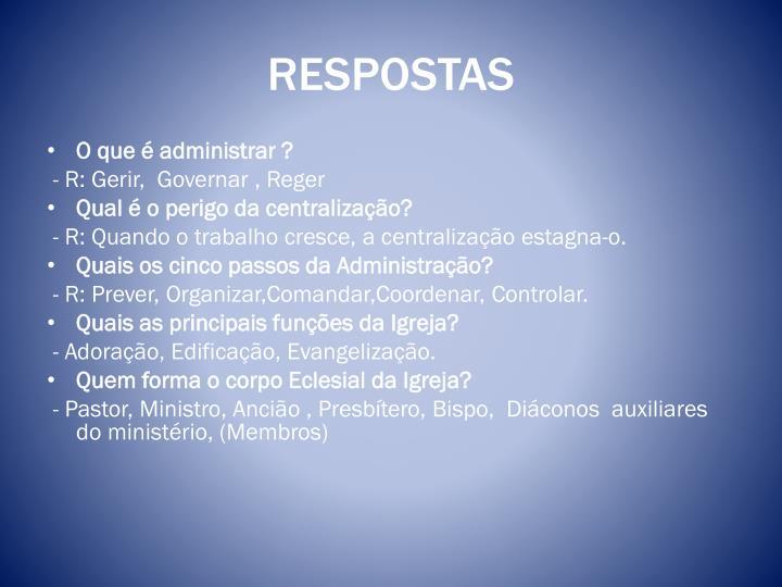 RESPOSTAS