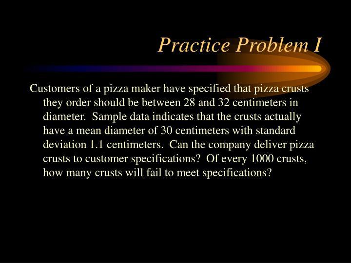 Practice Problem I