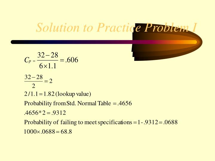 Solution to Practice Problem I