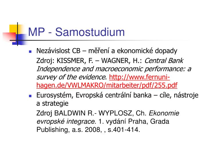 MP - Samostudium