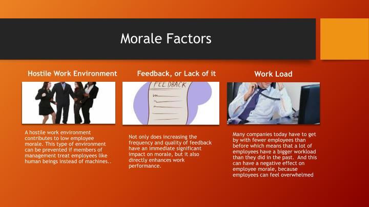 Morale Factors