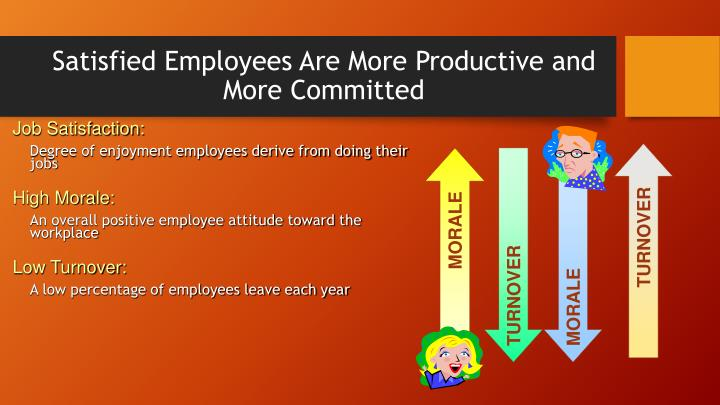 Satisfied Employees Are More Productive and More Committed