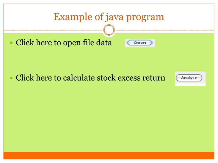 Example of java program