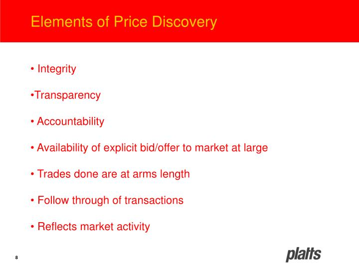 Elements of Price Discovery