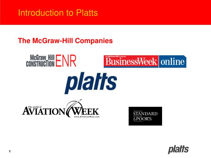 Introduction to platts