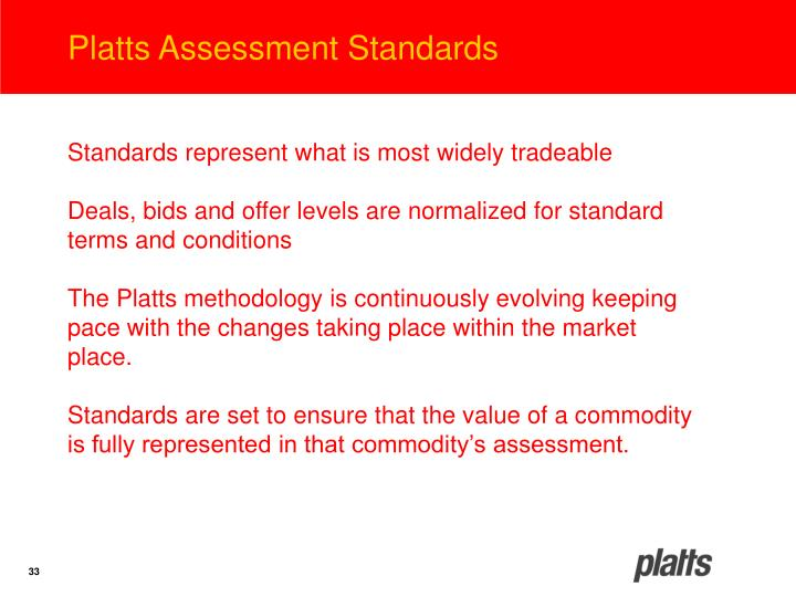 Platts Assessment Standards