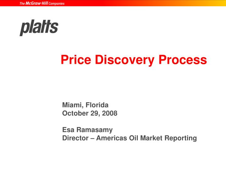 Price discovery process