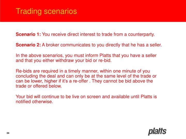 Trading scenarios