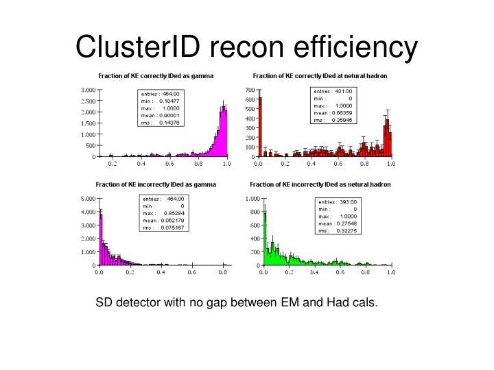 ClusterID recon efficiency