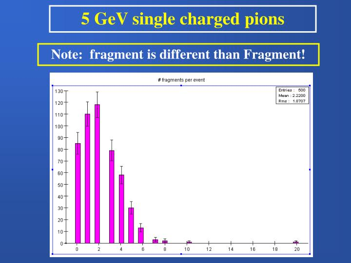 5 GeV single charged pions