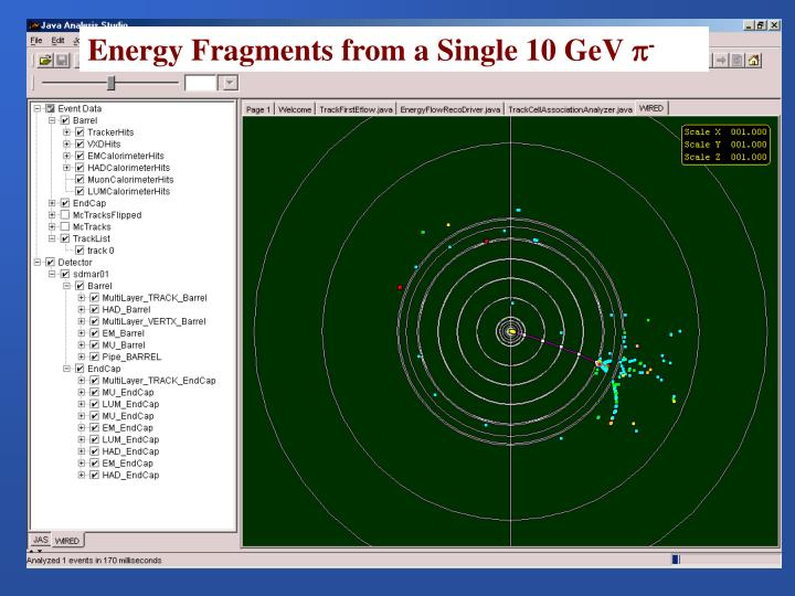 Energy Fragments from a Single 10 GeV