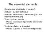 the essential elements