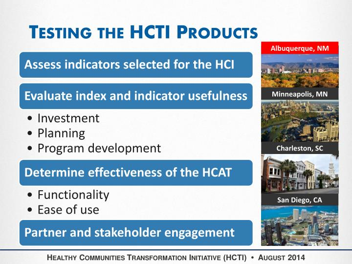 Testing the HCTI Products