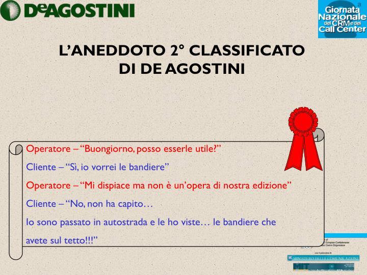 L'ANEDDOTO 2° CLASSIFICATO