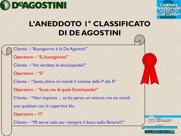 L'ANEDDOTO 1° CLASSIFICATO
