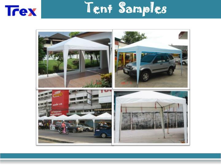 Tent  Samples