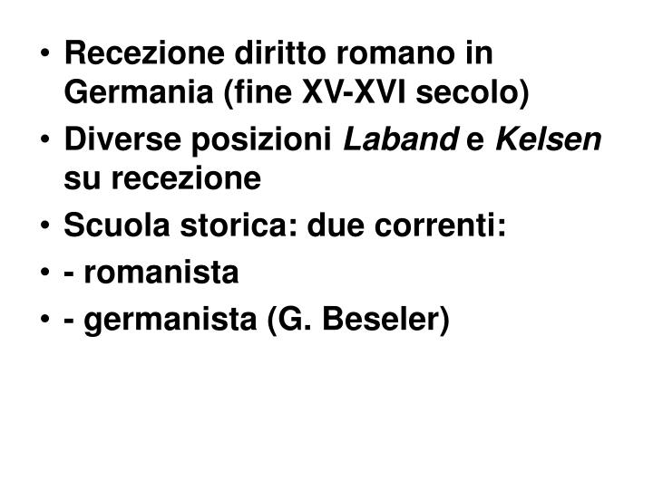 Recezione diritto romano in Germania (fine XV-XVI secolo)