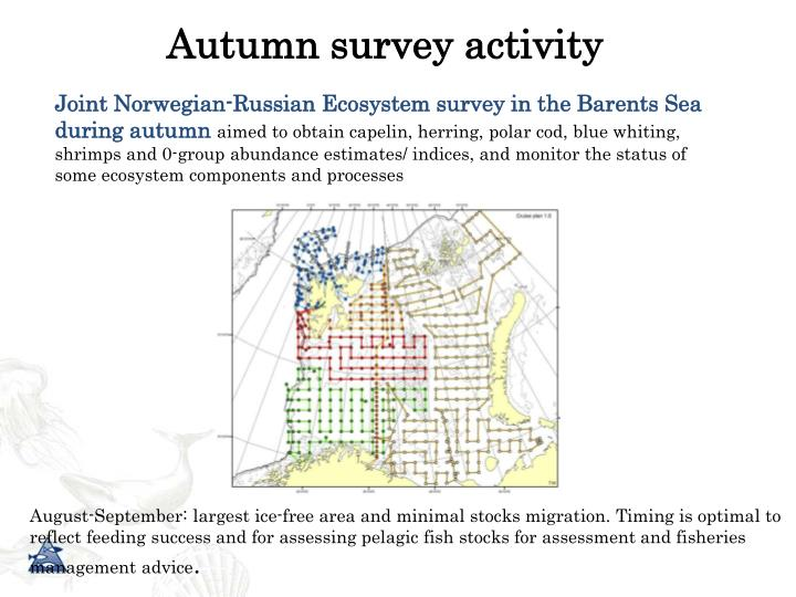 Joint Norwegian-Russian Ecosystem survey in the Barents Sea during autumn