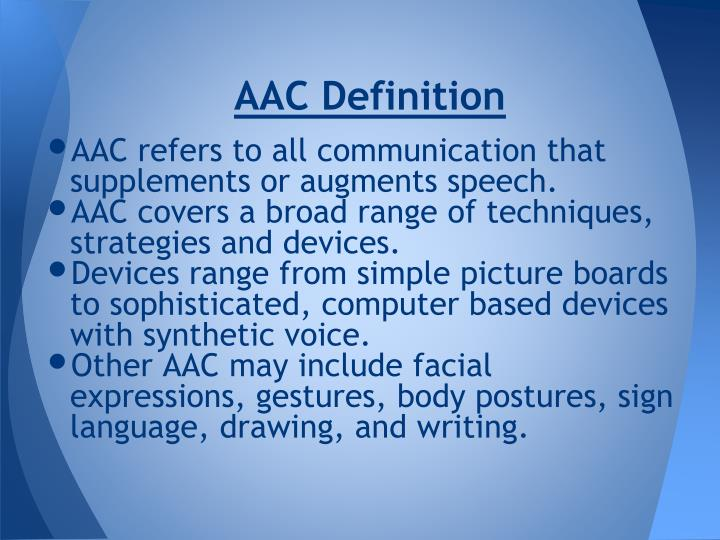AAC Definition