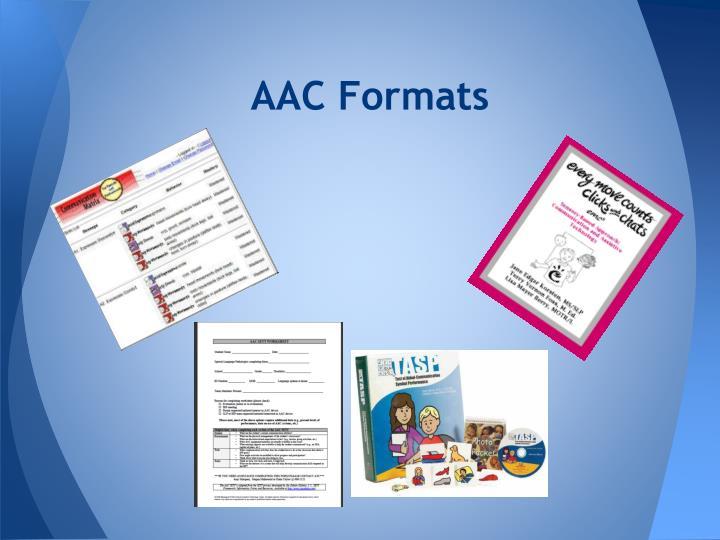 AAC Formats