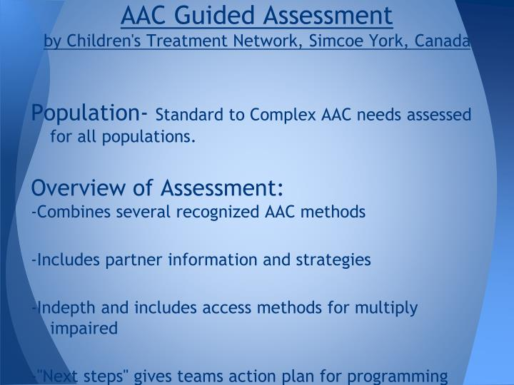AAC Guided Assessment