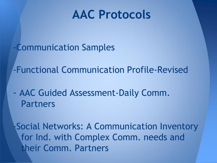 AAC Protocols