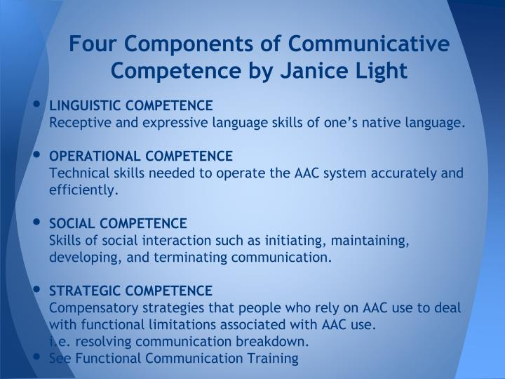 Four Components of Communicative